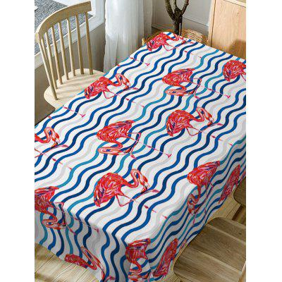 Flamingo Print Fabric Waterproof Table ClothTable Accessories<br>Flamingo Print Fabric Waterproof Table Cloth<br><br>Material: Polyester<br>Package Contents: 1 x Table Cloth<br>Pattern Type: Animal<br>Type: Table Cloth<br>Weight: 0.3750kg