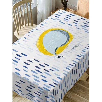 Rain Print Fabric Waterproof Table ClothTable Accessories<br>Rain Print Fabric Waterproof Table Cloth<br><br>Material: Polyester<br>Package Contents: 1 x Table Cloth<br>Pattern Type: Cartoon<br>Type: Table Cloth<br>Weight: 0.5900kg