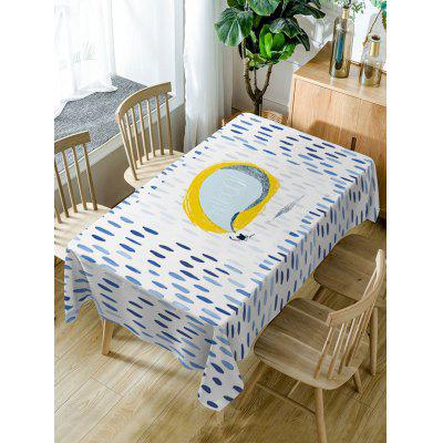 Rain Print Fabric Waterproof Table Cloth