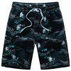 Multi-bolsos Tropical Printed Board Shorts - AZUL