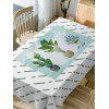 Cactus Plant Pot Print Waterproof Table Cloth - GREEN