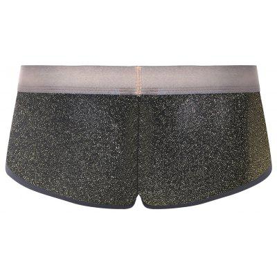 Faux Belt Print Twinkling U Convex TrunkMens Underwear &amp; Pajamas<br>Faux Belt Print Twinkling U Convex Trunk<br><br>Gender: Men<br>Material: Polyester, Spandex<br>Package Contents: 1 x Trunk<br>Pattern Type: Print<br>Weight: 0.1100kg