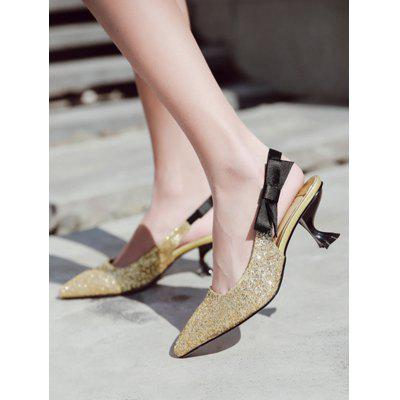 Mid Heel Sequined SandalsWomens Sandals<br>Mid Heel Sequined Sandals<br><br>Closure Type: Slip-On<br>Embellishment: Sequined<br>Gender: For Women<br>Heel Height: 6.5CM<br>Heel Height Range: Med(1.75-2.75)<br>Heel Type: Strange Style<br>Occasion: Party<br>Package Contents: 1 x Sandals (pair)<br>Pattern Type: Bowknot<br>Sandals Style: Slides<br>Shoe Width: Medium(B/M)<br>Style: Fashion<br>Upper Material: PU<br>Weight: 1.5000kg