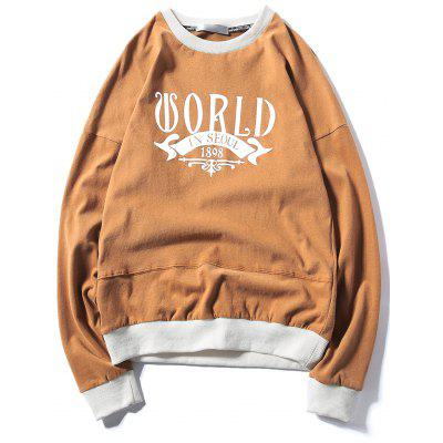 Printed Drop Shoulder Pullover Sweatshirt