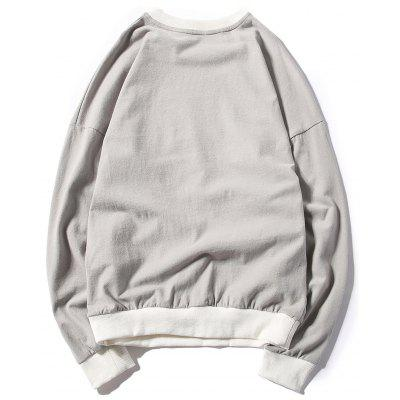Printed Drop Shoulder Pullover SweatshirtMens Hoodies &amp; Sweatshirts<br>Printed Drop Shoulder Pullover Sweatshirt<br><br>Material: Cotton, Spandex<br>Package Contents: 1 x Sweatshirt<br>Shirt Length: Regular<br>Sleeve Length: Full<br>Style: Fashion<br>Weight: 0.3500kg
