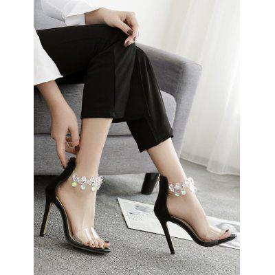 Rhinestone Embellished High Heel SandalsWomens Sandals<br>Rhinestone Embellished High Heel Sandals<br><br>Closure Type: Zip<br>Embellishment: Rhinestone<br>Gender: For Women<br>Heel Height: 11CM<br>Heel Height Range: Super High(Above4)<br>Heel Type: Stiletto Heel<br>Occasion: Casual<br>Package Contents: 1 x Sandals (pair)<br>Pattern Type: Patchwork<br>Sandals Style: Ankle Strap<br>Shoe Width: Medium(B/M)<br>Style: Elegant<br>Upper Material: Synthetic<br>Weight: 1.5000kg