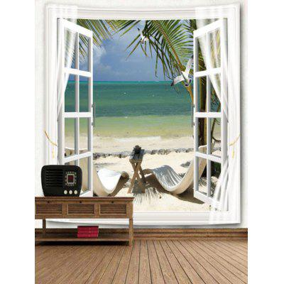 Window Outside Beach Landscape Print TapestryBlankets &amp; Throws<br>Window Outside Beach Landscape Print Tapestry<br><br>Feature: Removable, Washable<br>Material: Polyester<br>Package Contents: 1 x Tapestry<br>Shape/Pattern: Print,Tree<br>Style: Natural<br>Theme: Beach Theme<br>Weight: 0.3700kg