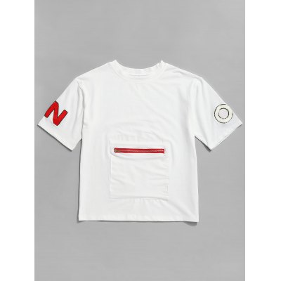 Zippered Pocket Graphic Tee