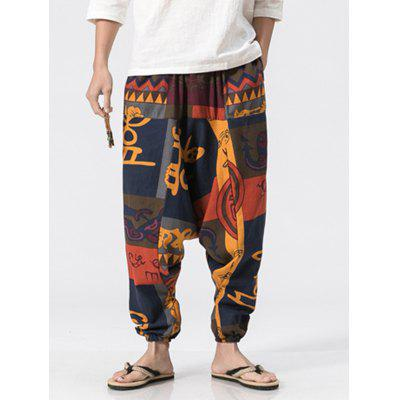 Totem Print Jogger PantsMens Pants<br>Totem Print Jogger Pants<br><br>Closure Type: Elastic Waist<br>Fit Type: Loose<br>Front Style: Flat<br>Material: Cotton, Linen<br>Package Contents: 1 x Jogger Pants<br>Pant Length: Long Pants<br>Pant Style: Jogger Pants<br>Style: Fashion<br>Waist Type: Mid<br>Weight: 0.3200kg<br>With Belt: No