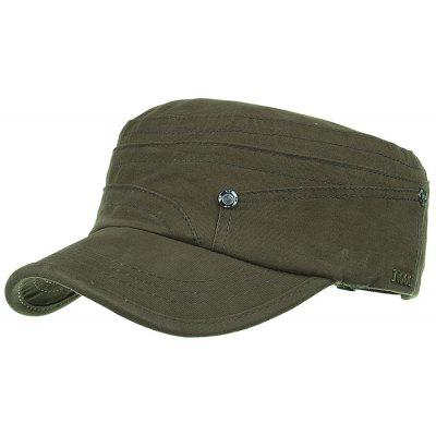Unique Metal Numbers Pattern Embellished Military Hat