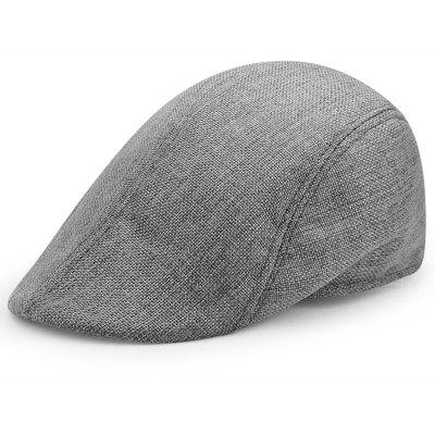 Simple Solid Color Linen Newsboy Hat