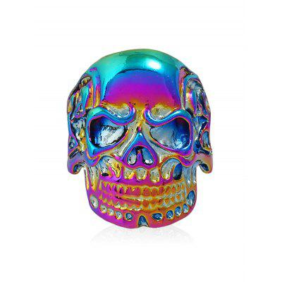 Vintage Carved Skull Alloy Biker Ring