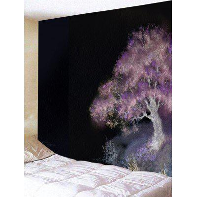 Oil Painting Tree Print Tapestry