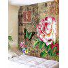 Stamp Oil Painting Flower Pattern Tapestry - COLORMIX