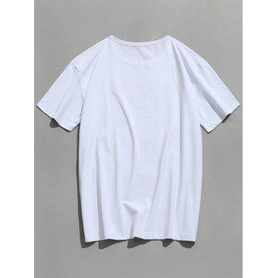 Letter Pattern TeeMens Short Sleeve Tees<br>Letter Pattern Tee<br><br>Collar: Round Neck<br>Material: Polyester<br>Package Contents: 1 x T-shirt<br>Pattern Type: Letter<br>Sleeve Length: Short<br>Weight: 0.3200kg