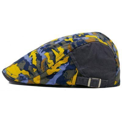 Unique Colored Camo Pattern Embellished Newsboy Hat
