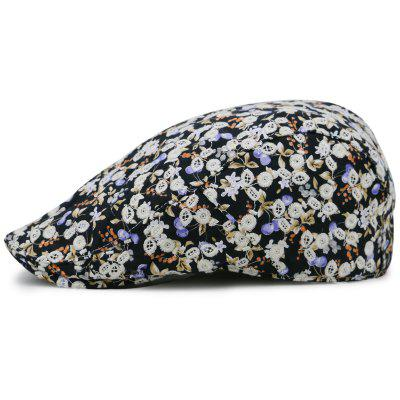 Flourishing Floral Pattern Embellished Newsboy Hat ...