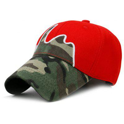 Unique Line Embroidery Camouflage Baseball Hat
