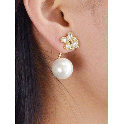 Faux Pearl Rhinestones Ear Jacket