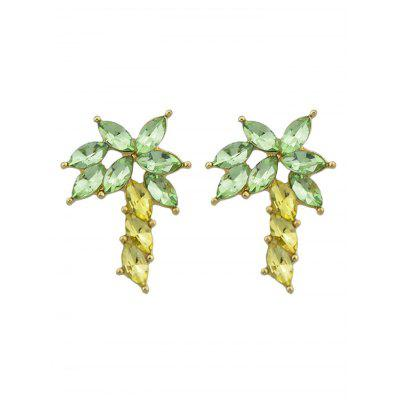 Faux Crystal Coconut Tree Stud Earrings