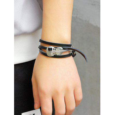 Retro Faux Leather Alloy Violin Wrap BraceletMens Jewelry<br>Retro Faux Leather Alloy Violin Wrap Bracelet<br><br>Gender: Unisex<br>Item Type: Wrap Bracelet<br>Package Contents: 1 x Bracelet<br>Shape/Pattern: Others<br>Style: Trendy<br>Weight: 0.0130kg