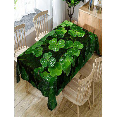 Clover After Raining Printed Waterproof Table Cloth