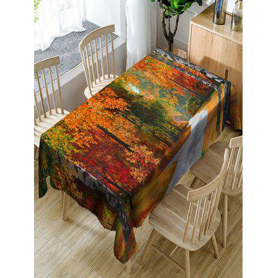 Maple Trees Print Waterproof Table Cloth
