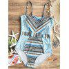 Zig Zag Printed One Piece Swimsuit - COLORMIX