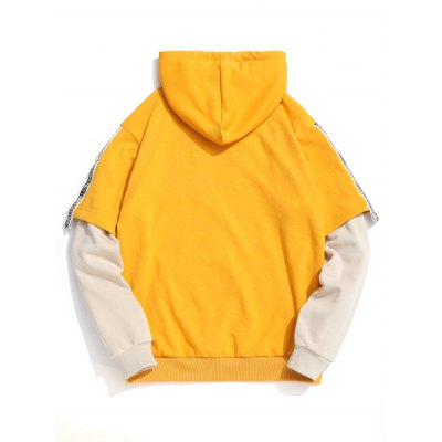 Ribbon Contrast Color Kangaroo Pocket HoodieMens Hoodies &amp; Sweatshirts<br>Ribbon Contrast Color Kangaroo Pocket Hoodie<br><br>Material: Polyester<br>Package Contents: 1 x Hoodie<br>Pattern Type: Color Block<br>Shirt Length: Regular<br>Sleeve Length: Full<br>Style: Fashion<br>Weight: 0.7100kg