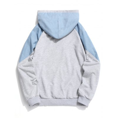 Contrast Color Letter Embroidered HoodieMens Hoodies &amp; Sweatshirts<br>Contrast Color Letter Embroidered Hoodie<br><br>Material: Polyester<br>Package Contents: 1 x Hoodie<br>Pattern Type: Color Block<br>Shirt Length: Regular<br>Sleeve Length: Full<br>Style: Fashion<br>Weight: 0.6300kg