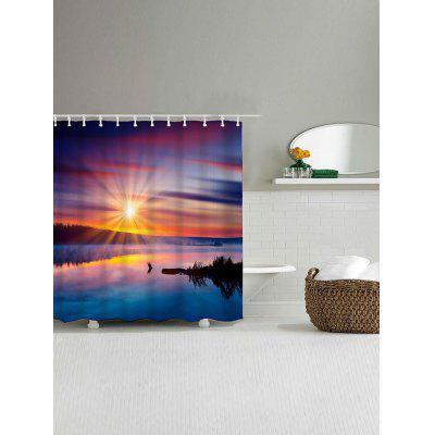 Sunrise Fog Lakeside Mountain Print Bath Shower CurtainShower Curtain<br>Sunrise Fog Lakeside Mountain Print Bath Shower Curtain<br><br>Materials: Polyester<br>Number of Hook Holes: W59 inch*L71 inch: 10; W71 inch*L71 inch: 12;<br>Package Contents: 1 x Shower Curtain 1 x Hooks (Set)<br>Products Type: Shower Curtains<br>Style: Trendy