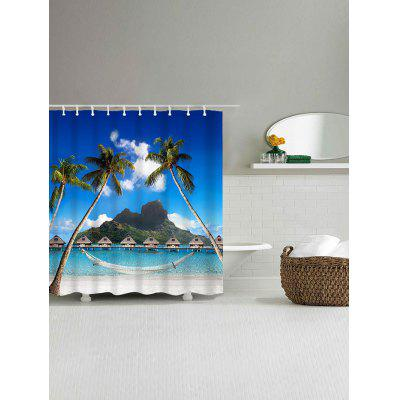Hawaii Beach Trees Bridge Print Bath Shower CurtainShower Curtain<br>Hawaii Beach Trees Bridge Print Bath Shower Curtain<br><br>Materials: Polyester<br>Number of Hook Holes: W59 inch*L71 inch: 10; W71 inch*L71 inch: 12<br>Package Contents: 1 x Shower Curtain 1 x Hooks (Set)<br>Products Type: Shower Curtains<br>Style: Natural