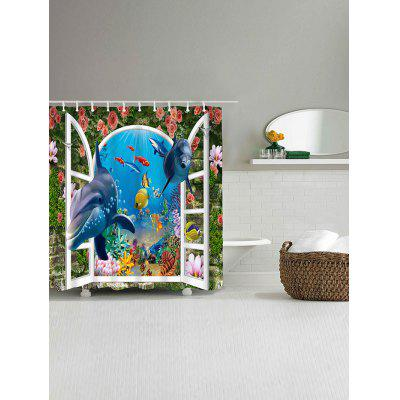 3D Window World Sea Dolphin Print Fabric Shower CurtainShower Curtain<br>3D Window World Sea Dolphin Print Fabric Shower Curtain<br><br>Materials: Polyester<br>Number of Hook Holes: W59 inch*L71 inch: 10; W71 inch*L71 inch: 12<br>Package Contents: 1 x Shower Curtain 1 x Hooks (Set)<br>Products Type: Shower Curtains<br>Style: Trendy
