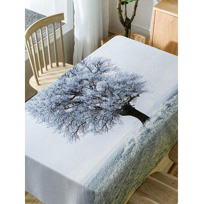 Frozen Tree Print Waterproof Table ClothTable Accessories<br>Frozen Tree Print Waterproof Table Cloth<br><br>Material: Polyester<br>Package Contents: 1 x Table Cloth<br>Pattern Type: Plant<br>Type: Table Cloth<br>Weight: 0.5900kg