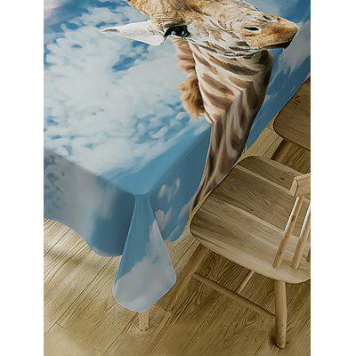Giraffe Print Waterproof Table ClothTable Accessories<br>Giraffe Print Waterproof Table Cloth<br><br>Material: Polyester<br>Package Contents: 1 x Table Cloth<br>Pattern Type: Animal<br>Type: Table Cloth<br>Weight: 0.3750kg