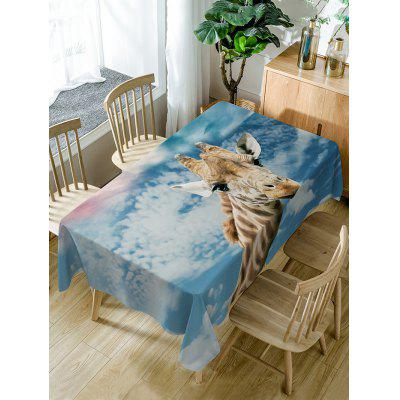 Giraffe Print Waterproof Table Cloth