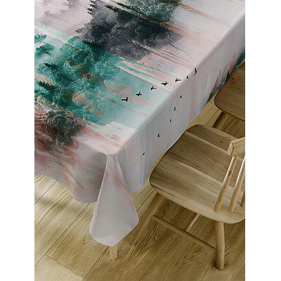 Mountains Print Fabric Waterproof Table ClothTable Accessories<br>Mountains Print Fabric Waterproof Table Cloth<br><br>Material: Polyester<br>Package Contents: 1 x Table Cloth<br>Pattern Type: Scenery<br>Type: Table Cloth<br>Weight: 0.4600kg