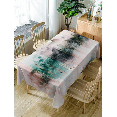 Mountains Print Fabric Waterproof Table Cloth