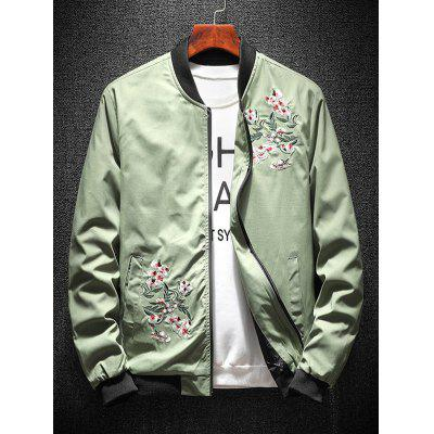 Floral Embroidery Casual Bomber JacketMens Jackets &amp; Coats<br>Floral Embroidery Casual Bomber Jacket<br><br>Closure Type: Zipper<br>Clothes Type: Jackets<br>Collar: Stand Collar<br>Material: Polyester<br>Occasion: Going Out, Daily Use, Casual<br>Package Contents: 1 X Jacket<br>Season: Fall, Spring<br>Shirt Length: Regular<br>Sleeve Length: Long Sleeves<br>Style: Casual<br>Weight: 0.4700kg
