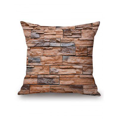 Brick Wall Print Pillow Case Cover