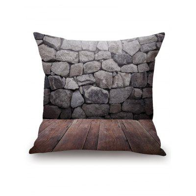 Stones Print Square Pillowcase