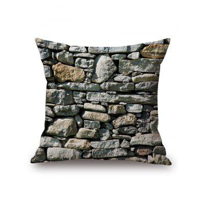 Stone Wall Print Square Pillowcase
