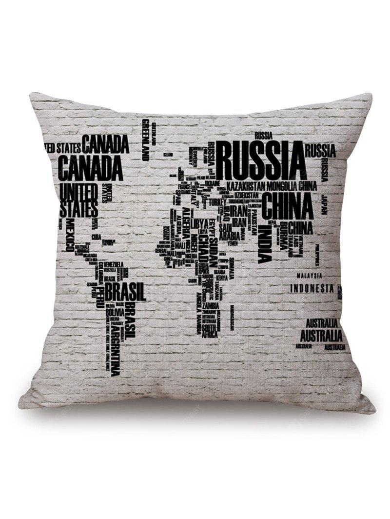 World map in english print decorative pillowcase 403 free world map in english print decorative pillowcase gumiabroncs Image collections