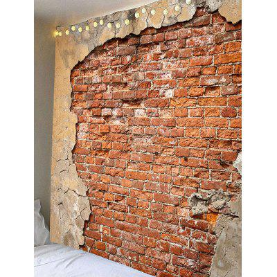 Old Broken Brick Wall Print Wall Hanging TapestryBlankets &amp; Throws<br>Old Broken Brick Wall Print Wall Hanging Tapestry<br><br>Feature: Removable, Waterproof<br>Material: Velvet<br>Package Contents: 1 x Tapestry<br>Shape/Pattern: Wall<br>Style: Vintage<br>Weight: 0.3600kg