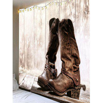 West Cowboy Boot Print Waterproof Wall Hanging TapestryBlankets &amp; Throws<br>West Cowboy Boot Print Waterproof Wall Hanging Tapestry<br><br>Feature: Removable, Waterproof<br>Material: Velvet<br>Package Contents: 1 x Tapestry<br>Shape/Pattern: Wood<br>Style: Vintage<br>Weight: 0.4000kg