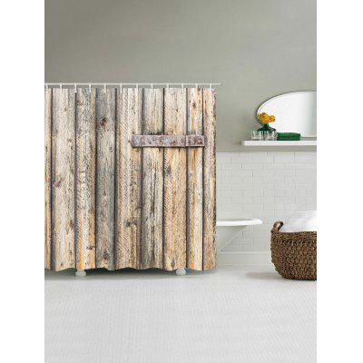 Wood Board Bar Iron Print Waterproof Bath Shower CurtainShower Curtain<br>Wood Board Bar Iron Print Waterproof Bath Shower Curtain<br><br>Materials: Polyester<br>Number of Hook Holes: W59 inch*L71 inch: 10; W71 inch*L71 inch: 12; W71 inch*L79 inch: 12<br>Package Contents: 1 x Shower Curtain 1 x Hooks (Set)<br>Pattern: Wood Grain<br>Products Type: Shower Curtains<br>Style: Vintage