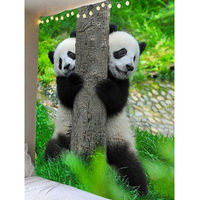 Two Playing Pandas Print Wall Hanging Tapestry от GearBest.com INT