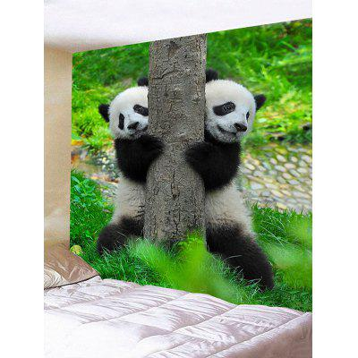 Two Playing Pandas Print Wall Hanging Tapestry