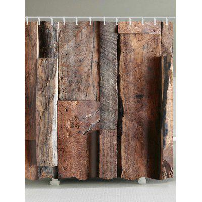 Wooden Print Shower Curtain
