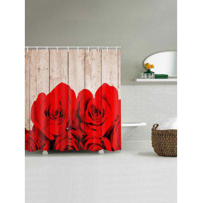 Rose Wood Grain Print Waterproof Bath CurtainShower Curtain<br>Rose Wood Grain Print Waterproof Bath Curtain<br><br>Materials: Polyester<br>Number of Hook Holes: W59 inch*L71 inch: 10; W71 inch*L71 inch: 12; W71 inch*L79 inch: 12<br>Package Contents: 1 x Shower Curtain 1 x Hooks (Set)<br>Pattern: Floral,Wood Grain<br>Products Type: Shower Curtains<br>Style: Romantic